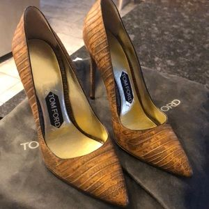 Tom Ford sneak skin heels size 39/ 8